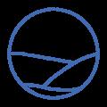stamp logo mid blue